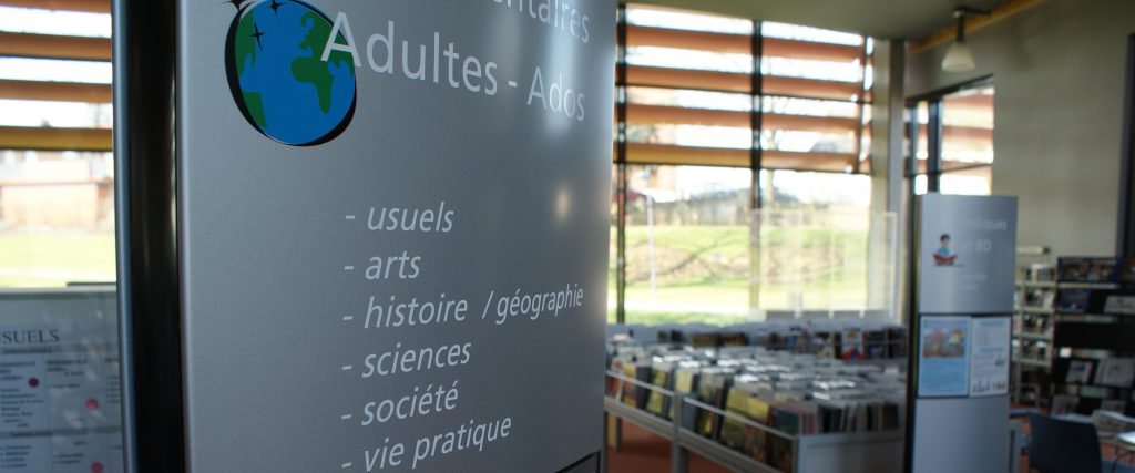 signaletique mediatheque